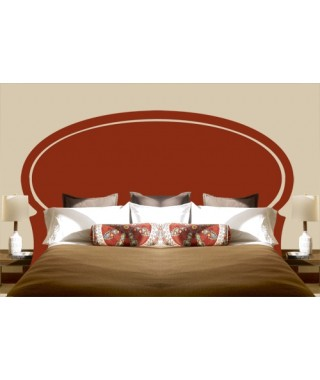 Rounded Sticker Headboard King size bed
