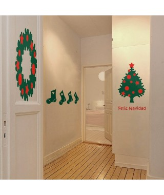 Christmas decor sticker kit