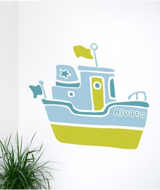 Personalized Fishing Boat Decal