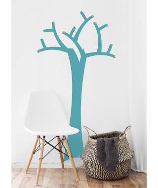 Coat hanger tree sticker