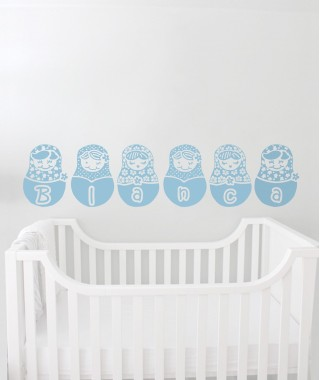 Customized dolls decal sticker