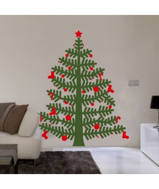 Christmas tree sticker big