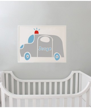 decoracion infantil coches