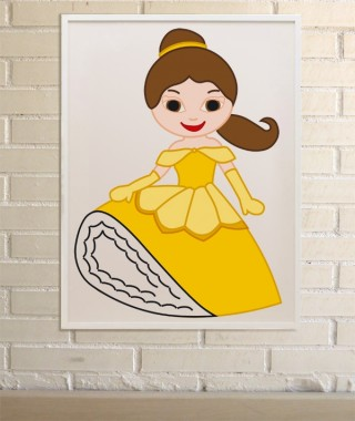 Princess Belle Print