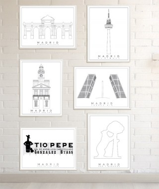 Madrid prints  collection