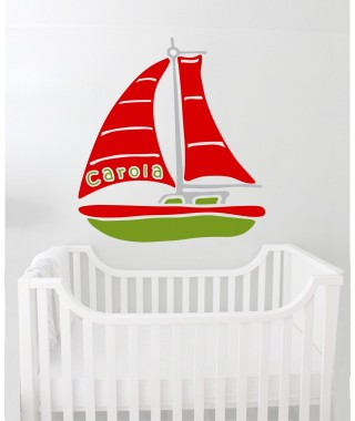 Personalized  Sailing Ship Decal