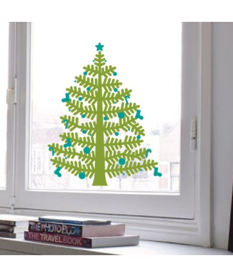 Christmas tree sticker small