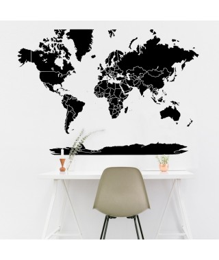 Sticker world map Big