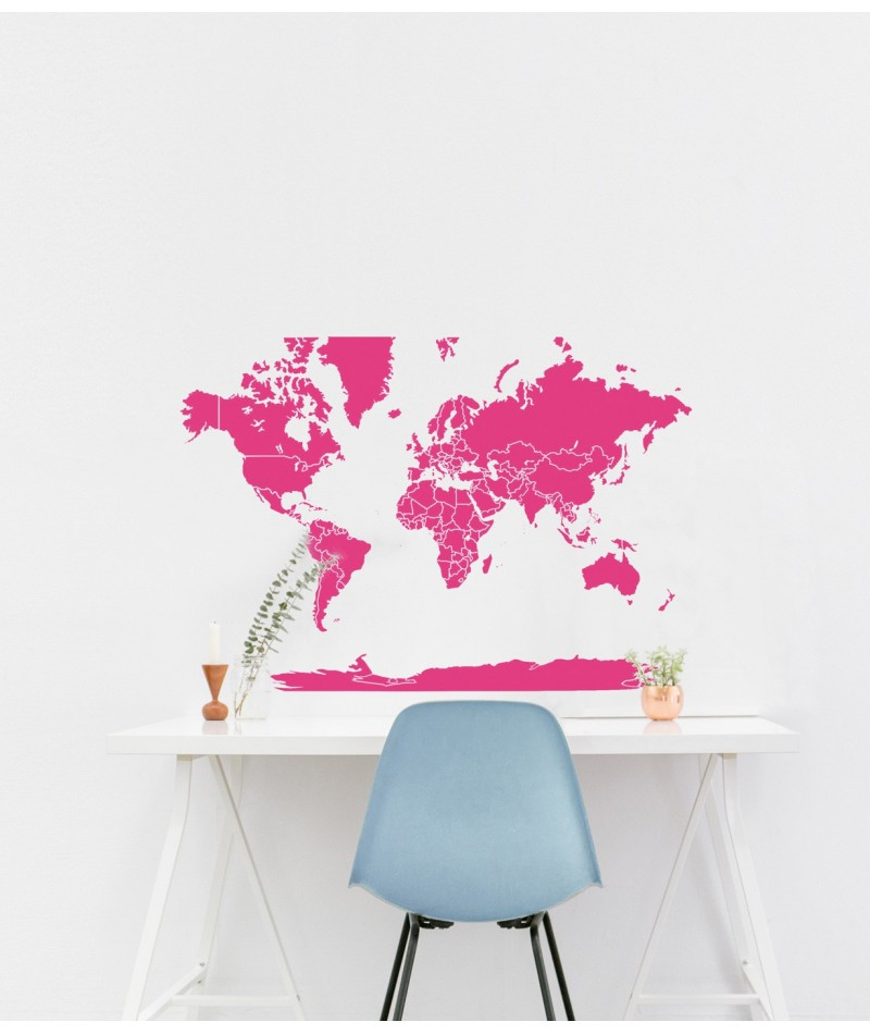 World map wallpaper sticker world map small gumiabroncs Image collections