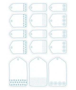 free christmas gift labels blue