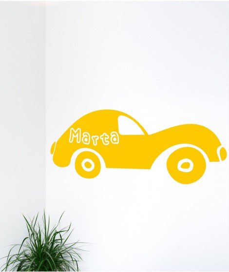Personalized Sports Car Decal