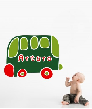 Personalized Kids Bus Car Decal
