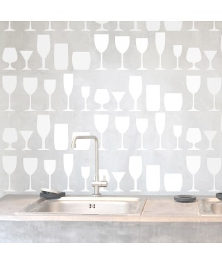 Wallpaper sticker Drinking glasses
