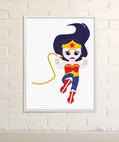 Wonder woman Ilustracion Superheroinas