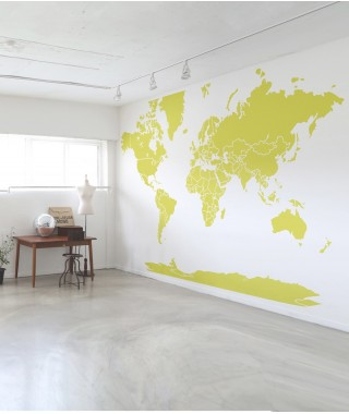 Giant world map Wallpaper
