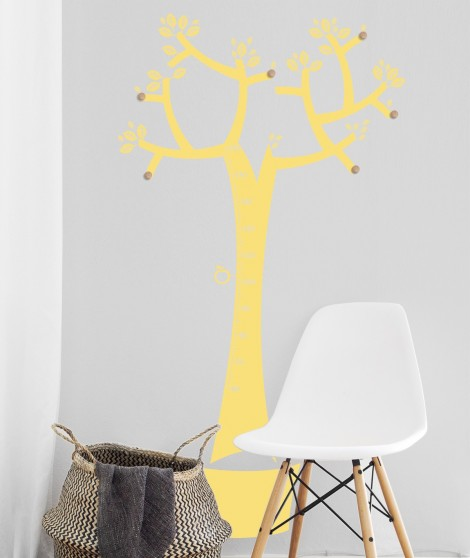 Arbol perchero medidor monocolor decoración singular