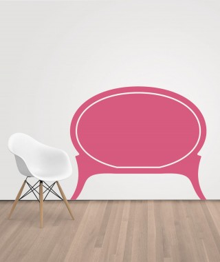 Rounded Sticker Headboard 135cm