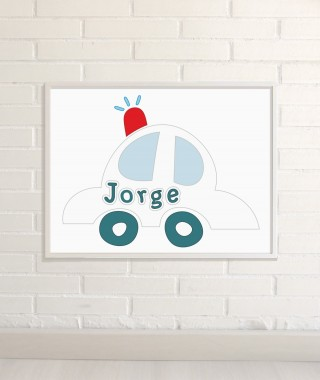 Personalized Wall Art Car