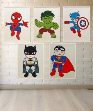 decoracion infantil superheroes